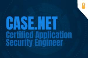 CASE.NET - Certified Application Security Engineer